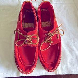 Authentic Tory Burch orange espadrille sneakers!